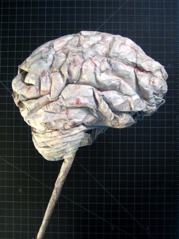 Как сделать из бумаги мозги видео