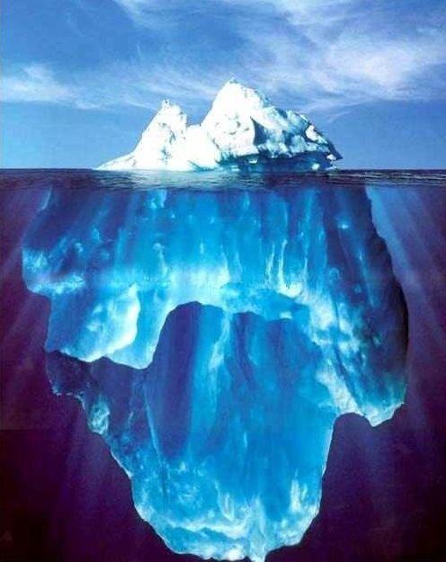 iceberg_02 Buzdağının Görünen ve Görünmeyen Kısmı