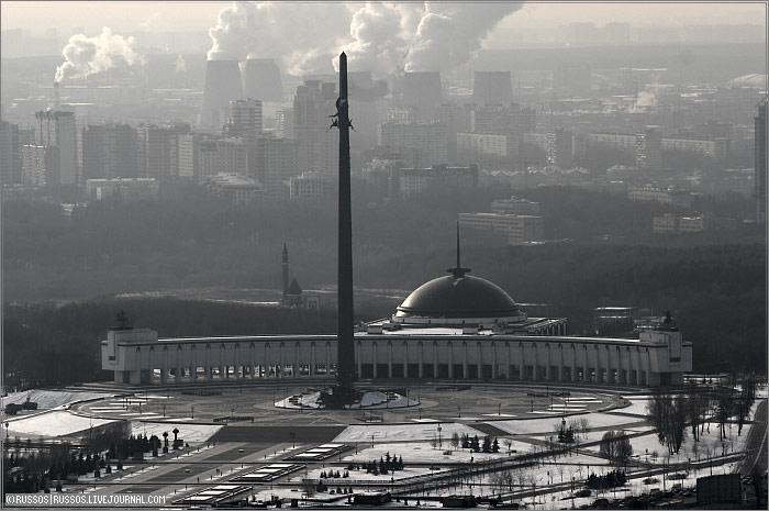 Москва с высоты птичьего полета (51 фото)