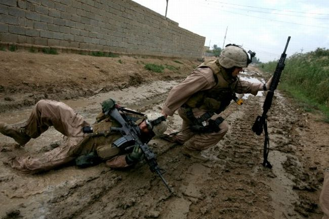 Атака снайпера в Ираке 31.10.2006 (12 фотографий)