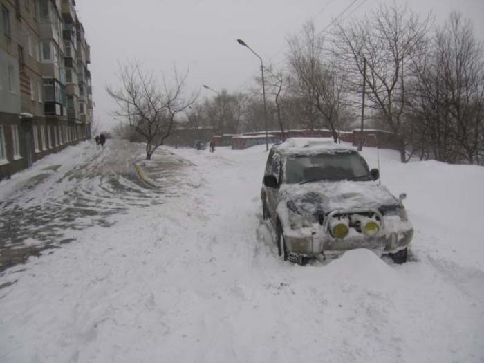 Снегопад во Владивостоке (15 фото)