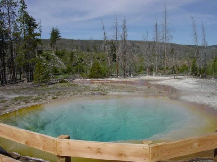 "Озеро невероятной красоты ""Morning Glory Pool"" в Yellowstone National Park, Wyoming (14 фото)"