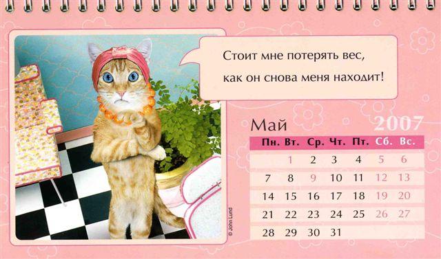Женский календарь на 2007 год )) (12 картинок)