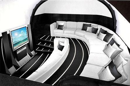 Концептуальный дизайн для Boeing 787 от BMW и роскошь от дома Versace (10 фото)