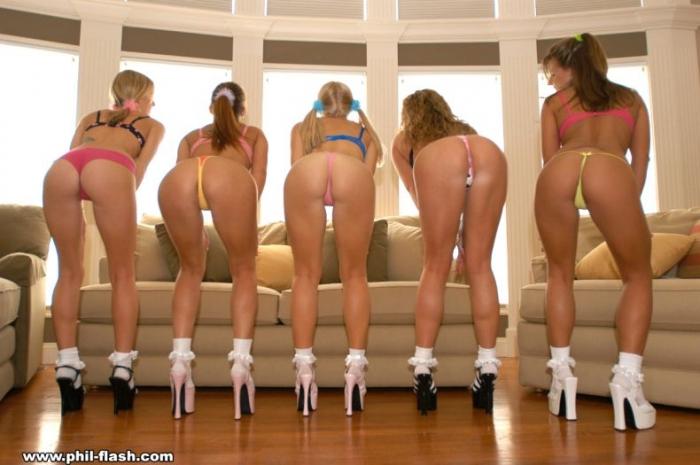 Пять девушек. Красиво даже без НЮ (16 фото)