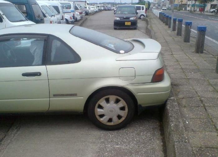 Так паркуются блондинки :)