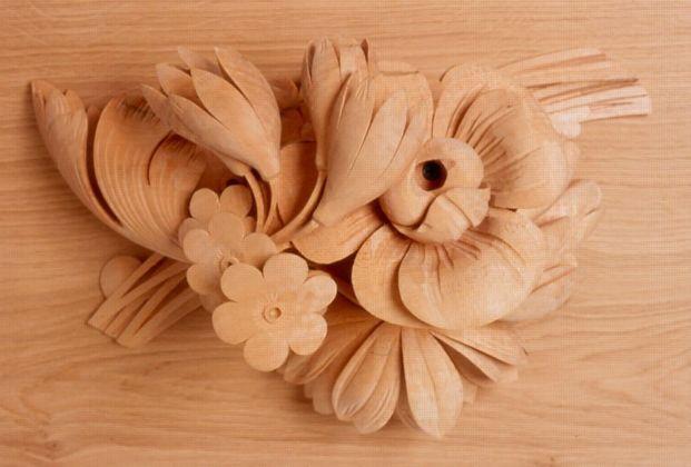 Как сделать цветок из дерева своими руками 36