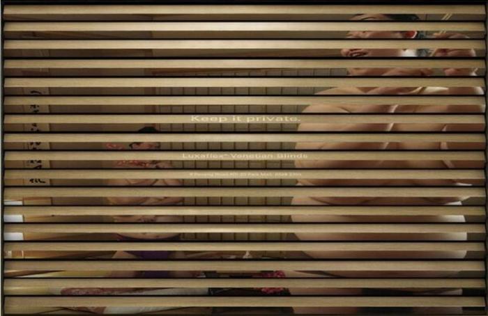 ХАХА ) Классная реклама жалюзей - Иногда лучше, чтобы жалюзи были закрыты (3 фото)