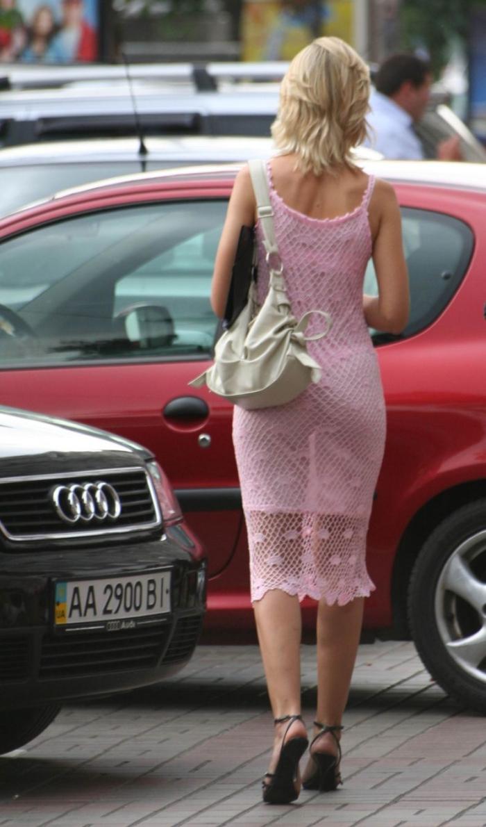 летом в прозрачном платье на улице фото решил, что