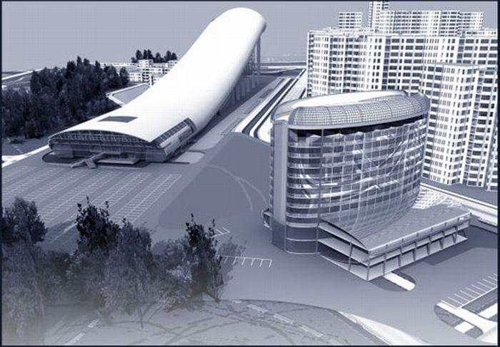 Всесезонный горнолыжный комплекс в Москве (16 фото)