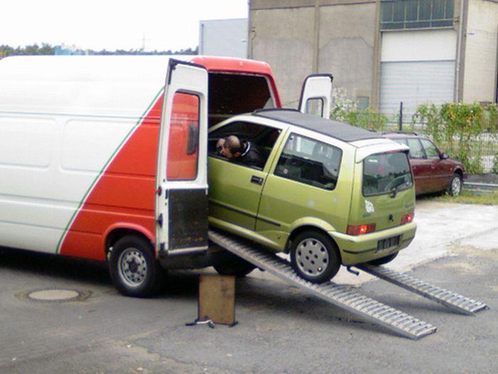 Перевозка автомобиля (3 фото)