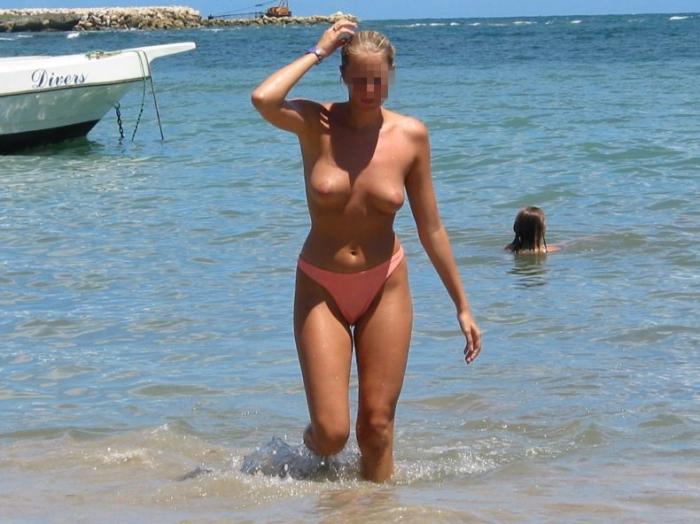 Лето! Пляж! Девушки топлес! (33 фото) НЮ