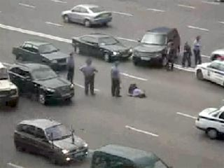 В Москве женщина на Infinity сбила капитана ГИБДД (9 фото + видео)