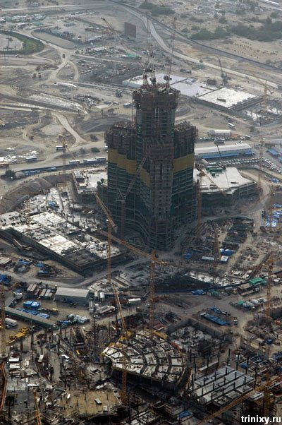 Бурдж Дубай - самый высокий небоскрёб в мире. Строительство (38 фото)