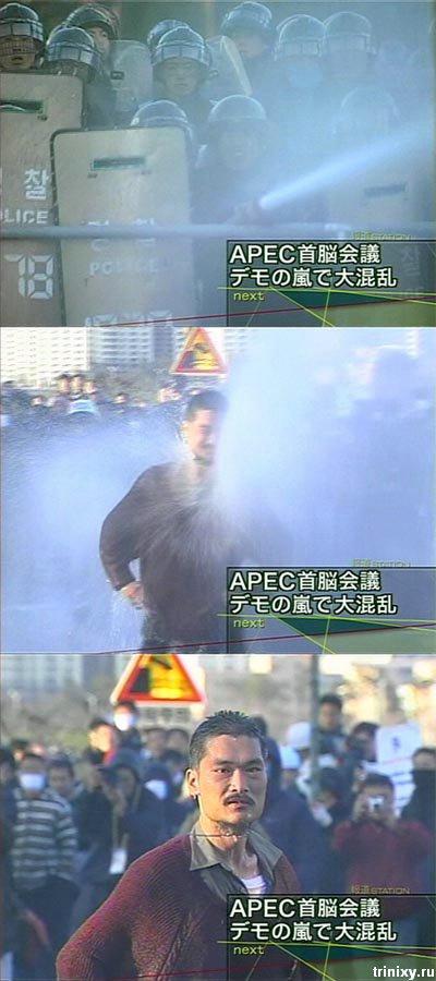Протесты в Корее. Не для слабонервных (23 фото)