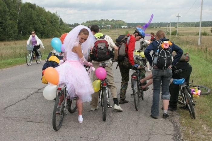 Вело-свадьбы (19 фото)