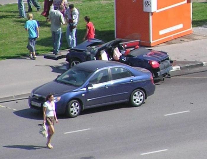 Вчерашняя авария в Москве (10 фото)