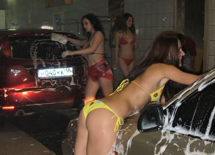 Обнаженная автомойка в Ижевске (34 фото) НЮ