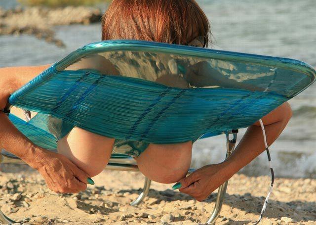 Правильный пляжный лежак (6 фото) НЮ