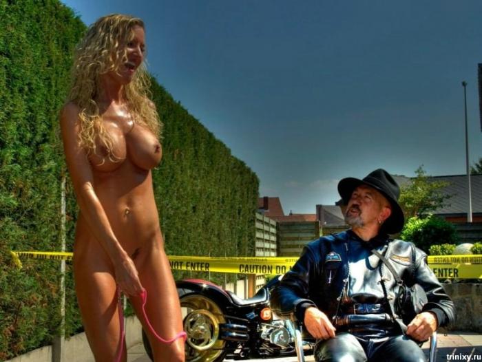 Стриптизерша с байкерского слета в Бельгии (9 фото) НЮ