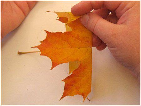 Осенняя романтика. Как сделать из листьев розу
