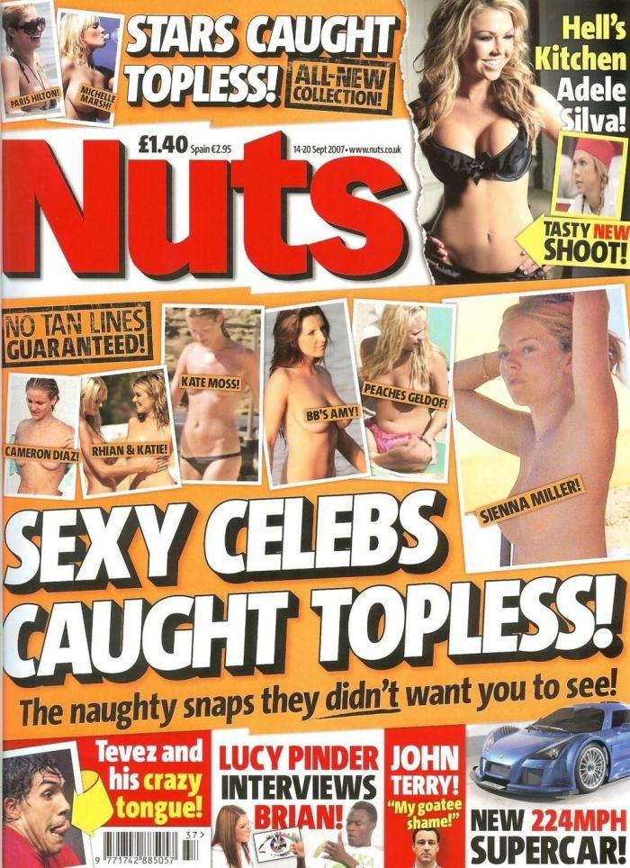 Журнал Nuts сделал подборку топлесс-звезд на пляже (11 страниц)