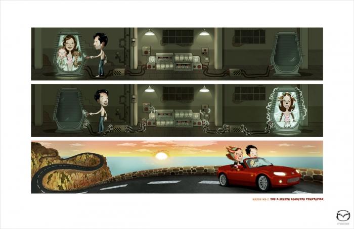 Жестокая реклама от Mazda