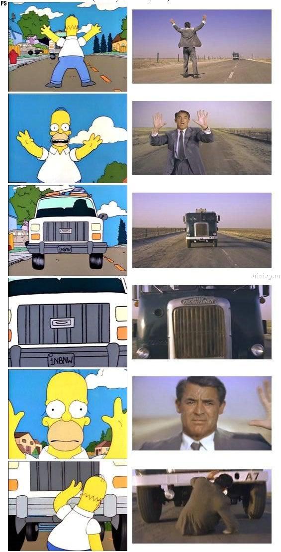Симпсоны и классика кино (много фотографий)