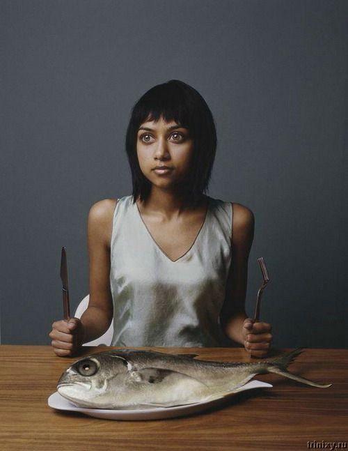Креатив дня. Люди, как рыбы (5 фото)