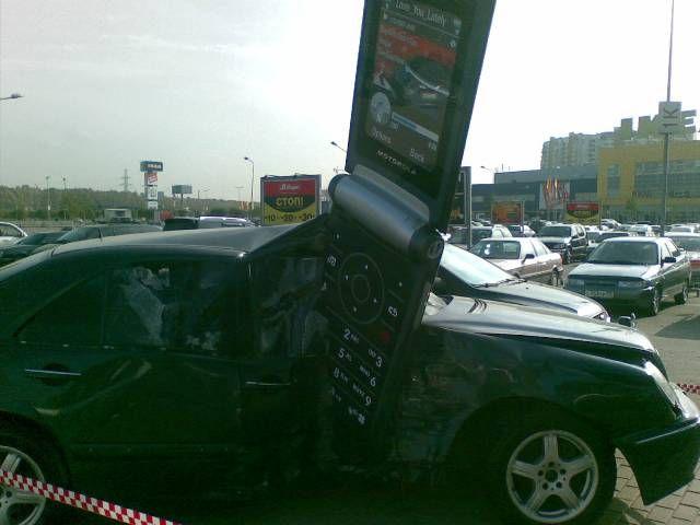Нелепая авария или? (4 фото)