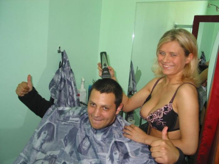 Правильная парикмахерская в Польше (9 фото)