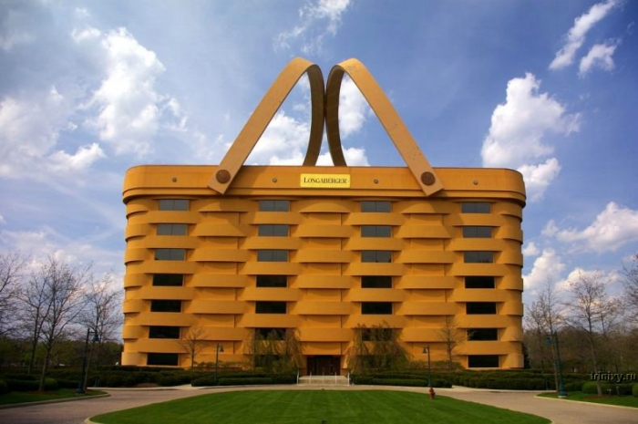 Здание в виде корзины (9 фото)