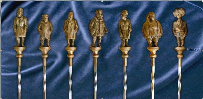 Золотые шампуры (3 фото)