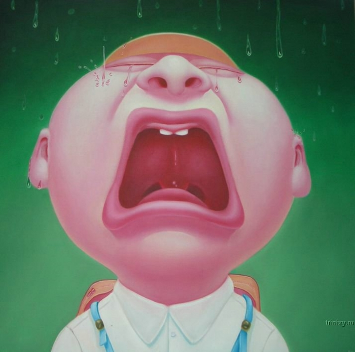 """Странный арт одного китайского художника """"Олимпиада со слезами на глазах"""" (39 фото)"""
