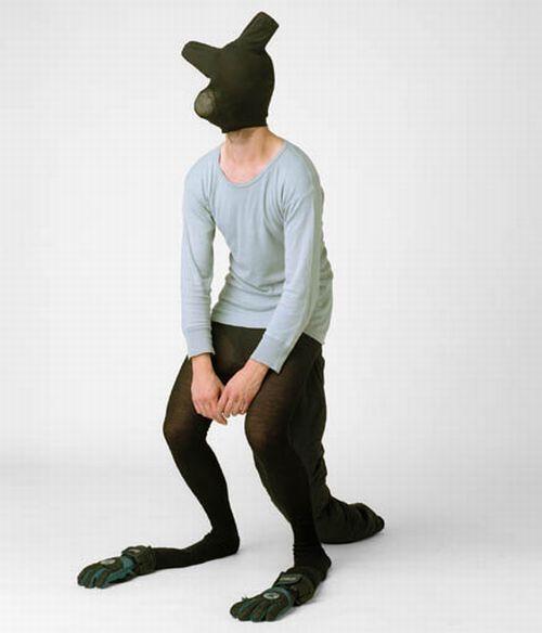 Я - жЫвотное. Самодельный костюм к сегодняшнему Хэллоуину (7 фото)