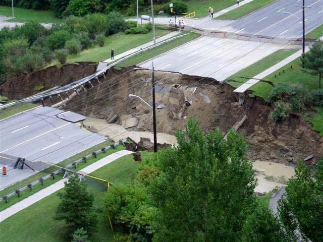 Как из дорог получаются реки (6 фото)
