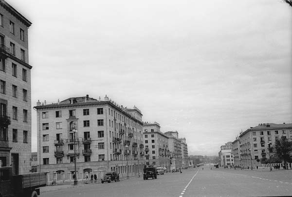 пустынные улицы - Улицы Москвы, старые фото.