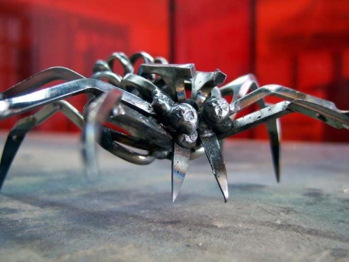 Как из железа сделать паука 363