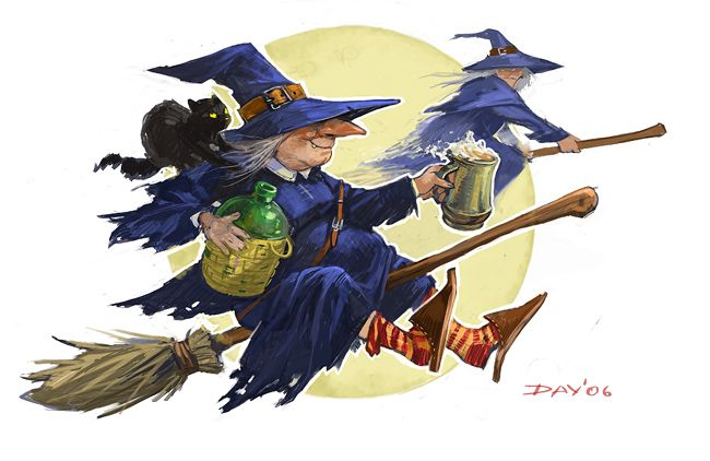 Картинка ведьмы шуточные знаете