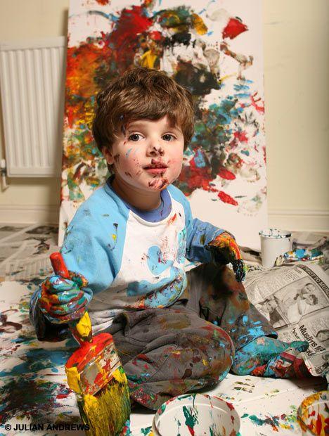 Краски мальчик с открытке 65