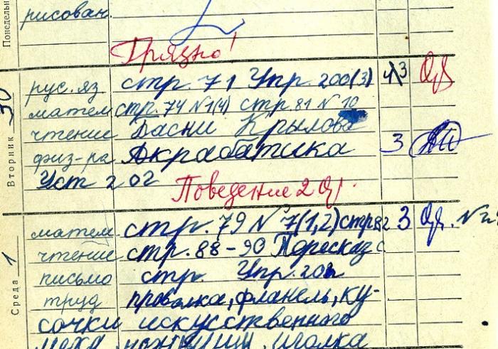 Дневник двоечника времен СССР (60 сканов) » Страница 3 » Триникси
