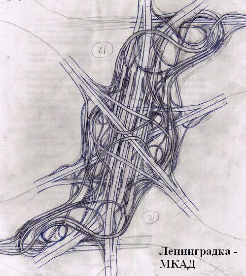 Новая развязка в Москве (2 картинки)