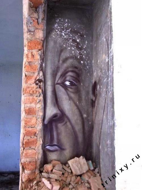 Креативный стрит-арт в Бразилии (14 фото)