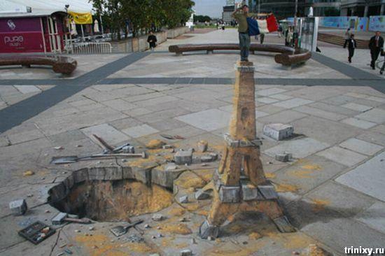 Потрясающий 3D стрит-арт (55 фото)