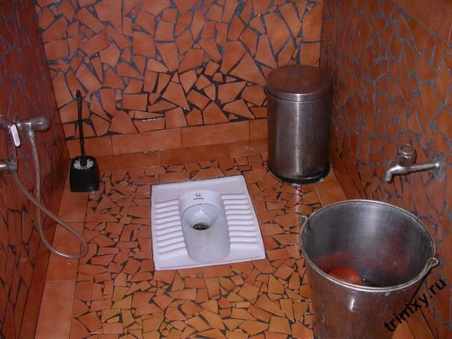 Как пользоваться туалетом в Индии (7 фото)