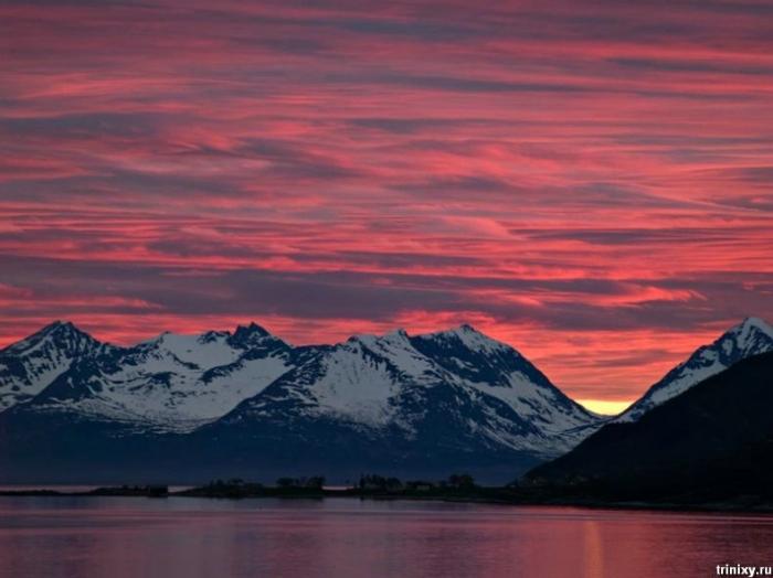 Самый красивый закат солнца (5 фото)