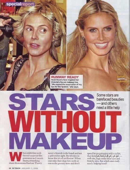 Звезды без макияжа (38 фото))