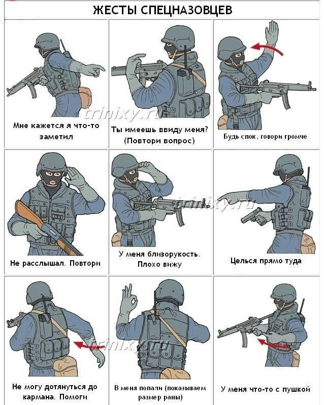 Архивное. Жесты спецназовцев (4 картинки)
