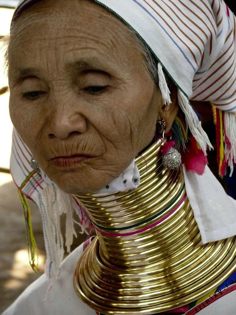 Женщины с длинными шеями (55 фото)