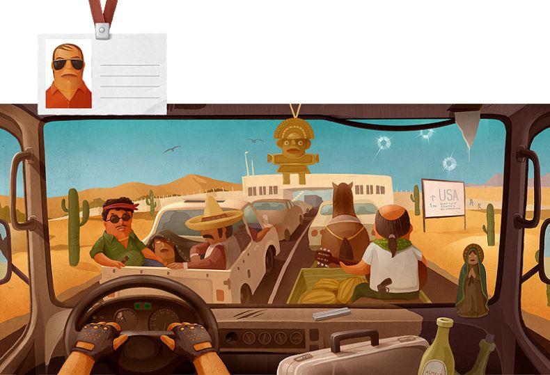 Виды из кабин дальнобойщиков в разных странах (12 фото)